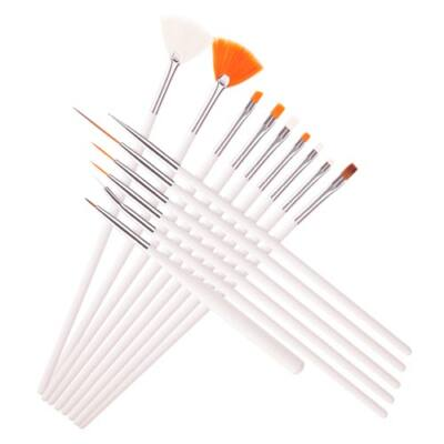 Nail Art Ecset Készlet - Nail Art Brush Set-15db/csom.
