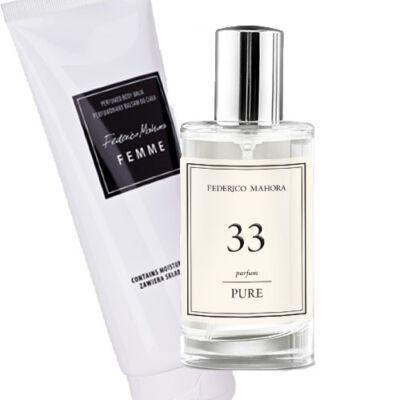 FM33 parfüm+testápoló krém